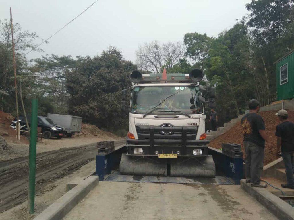 Jembatan Timbang Untuk Perusahaan Pertambangan Pengolahan Batubara