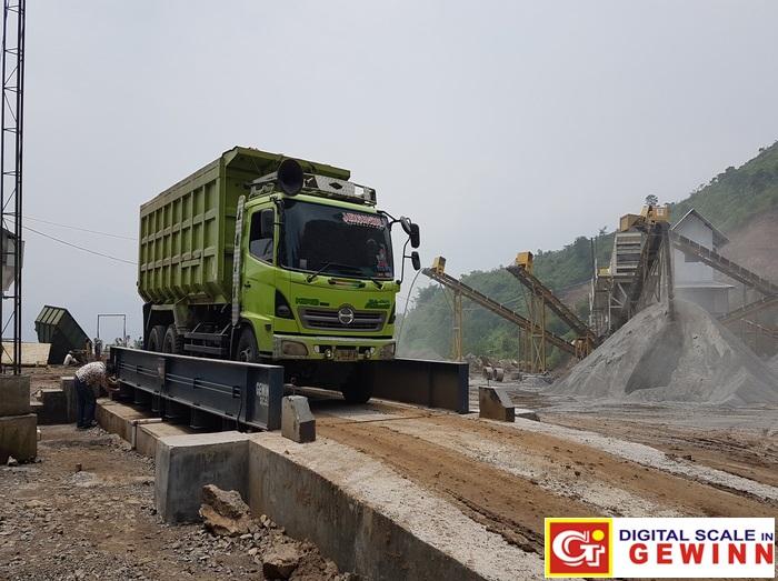 Jembatan Timbang Untuk Tambang Kuari (Quarry Mining)