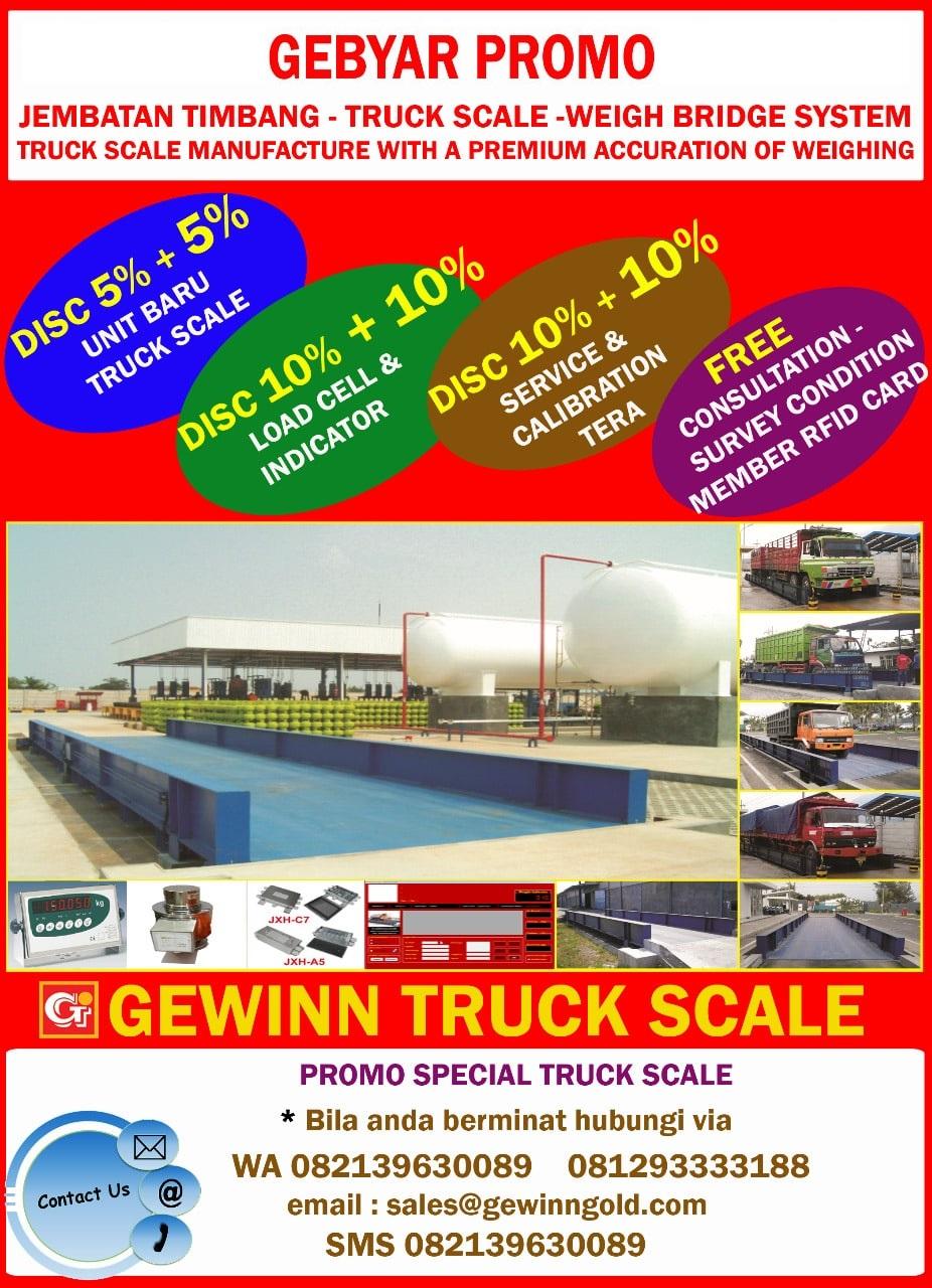 promo discount harga jembatan timbang dan timbangan truk