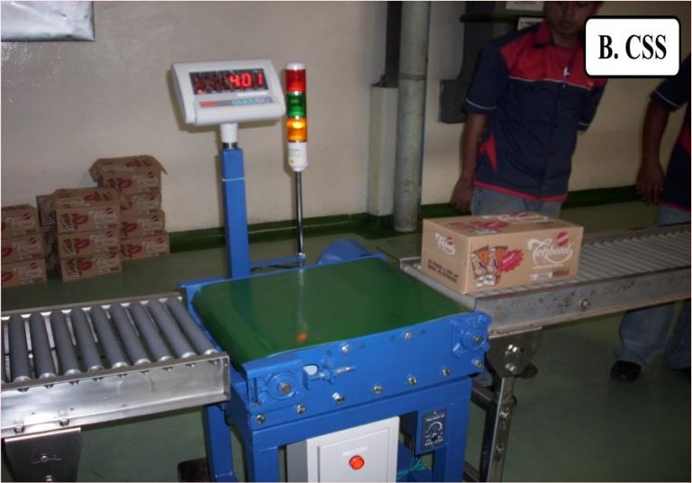 timbangan digital industri - timbangan checkweigher roller konveyor