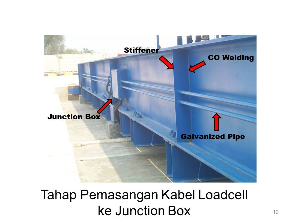 tahap pemasangan kabel loadcell ke junction box